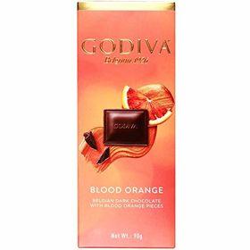 Godiva Belgian Dark Chocolate with Blood Orange Bits, 90g