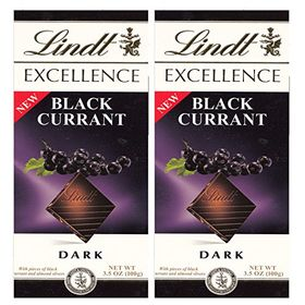 Lindt Excellence Black Currant Dark Chocolate, 2 X 100 g