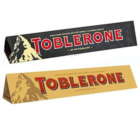 Toblerone Pack of 2 Dark and Milk 100g Each with(Toblerone)