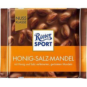 Ritter Sport Imported* 100gr./3.5 oz. (Honey + Salt + Almond)
