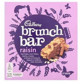 Cadbury Brunch Bar Raisin, 6 Bars
