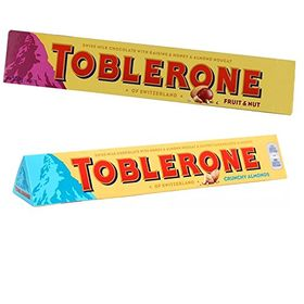 Toblerone Pack of 2 Fruit N Nuts and Crunchy Almonds 100 g Each with Eco Friendly Chocokick Pen and Silver Plated Coin
