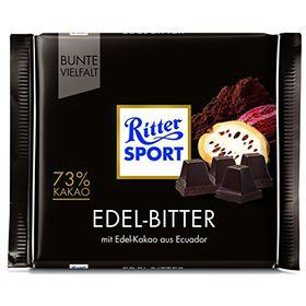 Ritter Sport Fine Extra Dark Chocolate, 100g