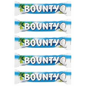 Bounty Chocolate Bars 57g -Pack of 5