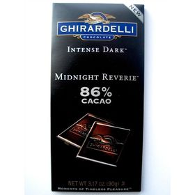 Ghirardelli Intense Dark 86% Cacao Midnight Reverie Chocolate Bar, 90g