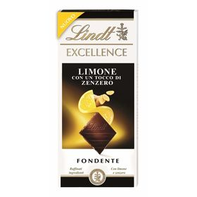 Lindt Excellence Citron and Ginger Dark Chocolate, 100g