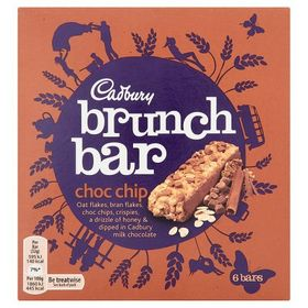 Cadbury Brunch Bar Choc Chip - 6 Bars!