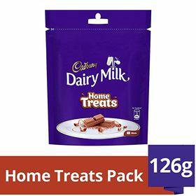 Cadbury Dairy Milk Chocolate Home Treats Pack, 126g (Pack of 4)