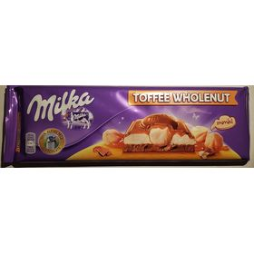 Mondelez Milka Toffee Wholenut Chocolate Bar 300g