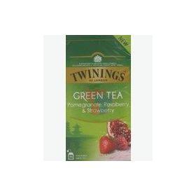 Twinings Green Tea Pomegranate, Raspberry & Strawberry, 25 Tea Bags, 37.5g