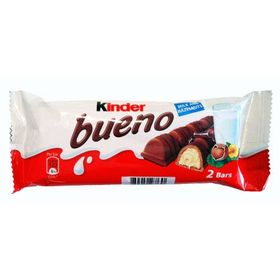 Kinder Bueno Milk & Hazelnut Chocolate Bar 43g (Pack of 2)