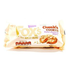 Fox's Chunkie Cookies With White Chocolate Chunks, 180g