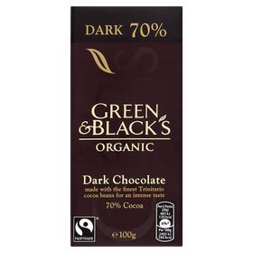 Green & Blacks Organic Dark Chocolate 70% Cocoa, 100g