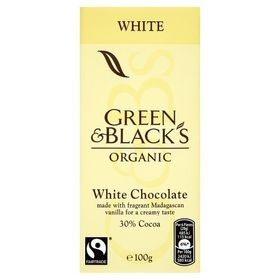 Green Black%27s Green Blacks Organic Fairtrade White Chocolate 100G
