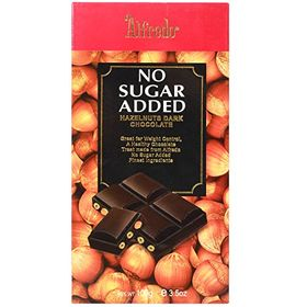 Alfredo No Added Sugar Hazelnut Dark Chocolate, 100g