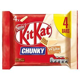 Nestle Kitkat Chunky White Chocolate 4 Bars (4 X 40g, 160g)