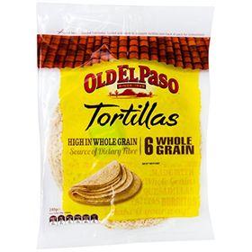 Old el Paso Tortilla wholegrain (6's), 240g