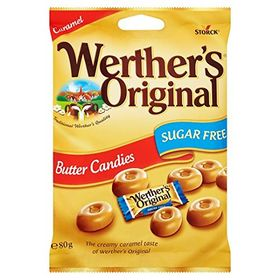 Storck Werther's Sugar Free Caramel Butter Candies (80g)