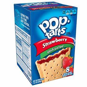 Kellogg's Pop Tarts Strawberry Unfrosted, 416g