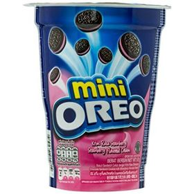 Oreo Mini Strawberry Flavoured Cream Biscuit Cup (Pack of 2) 67g