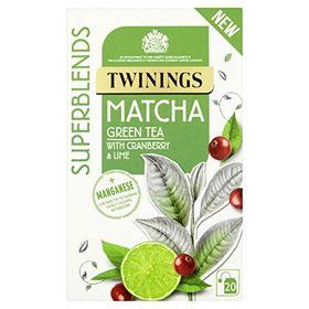 Twinings Matcha Green Tea with Cranberr & Lime 20Tea Bags.