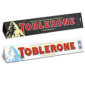 Toblerone Pack of 2 Dark and White 100g Each(Toblerone)