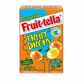 Fruit-Tella Citrus Mix Sugar Free Fruit Drop Box, 45g