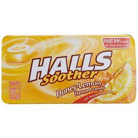 Halls Honey Lemon Yellow Candy, 22.4g