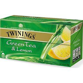 Twinings Green Tea and Lemon (25 Tea Bags, 40 g)