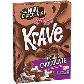 Kellogg's Krave Double Chocolate Cereal, 312g