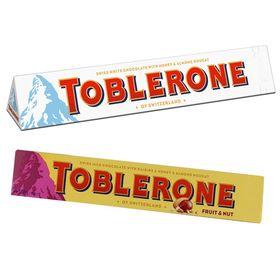 Toblerone Pack of 2 White and Fruit N Nuts 100g Each (Toblerone)