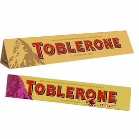 Toblerone Pack of 2 Milk and Fruit N Nuts 100g Each with Free Eco Friendly Chocokick Pen and Silver Plated Coin(Toblerone)
