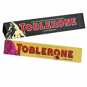 Toblerone Pack of 2 Dark and Fruit and Nuts 100g Each with Free Chocokick Eco Friendly Pen and Silver Plated Coin(Toblerone)
