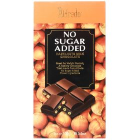 Alfredo No Added Sugar Hazelnuts Milk Chocolate Bar, 100g