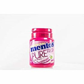 Mentos Pure Fresh Berry Lime Mint with Green Tea Sugar Free Gum Bottle, 57.75g