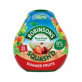 Robinsons Suger Free Drops Real Fruit Squash'D Summer Fruit 66ml
