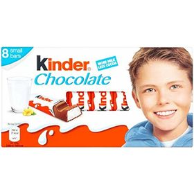 Kinder Chocolate 8 Bars, 100g Each (Pack of 2)