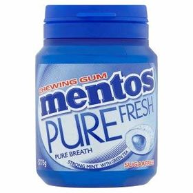 Mentos Pure Fresh Strong Mint with Green Tea Sugarfree Gum, 57.75g