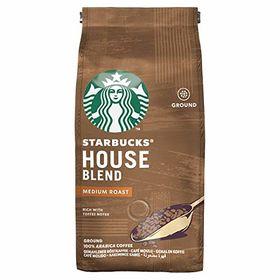 Starbucks House Blend Medium Roast Ground Coffee, 200g