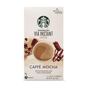 Caffe Mocha Latte : Starbucks VIA Instant Coffee, Mocha Latte, 5 Count
