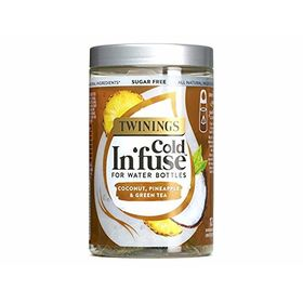 Twinings Sugarfree Cold In'fuse for Water Bottles Coconut, Pineapple & Green Tea 12 Infusers, 30g