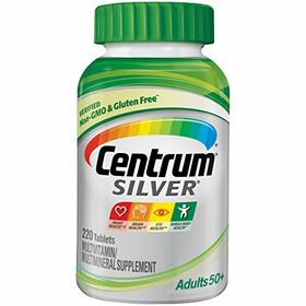 Centrum Silver, Multivitamin/ Multimineral Supplement, Adults + 50, 220-Count Bottle