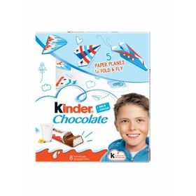 Kinder Milk Chocolate 5 Paper Planes Fold & Fly, 100g