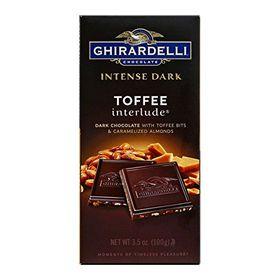 Ghirardelli Chocolate Intense Dark Bar, Toffee Interlude, 100g
