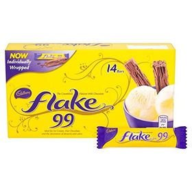 Cadbury Flake 99 Crumbliest Milk Chocolate Bars - Set of 14