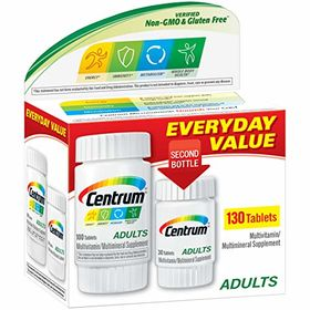 Centrum Multivitamin/Multimineral, Adults Under 50, 130 tablets