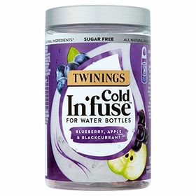 Twinings Sugarfree Cold In'fuse for Water Bottles Blueberry, Apple & Blackcurrant 12 Infusers, 30g