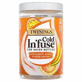 Twinings Sugarfree Cold In'fuse for Water Bottles Passionfruit, Mango & Blood Orange 12 Infusers, 30g