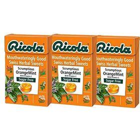 Ricola Sugar Free Orange Mint - 45g (Pack Of 3)