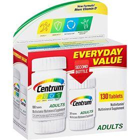 Centrum Adults Under 50 Multivitamins - 130 Tablets